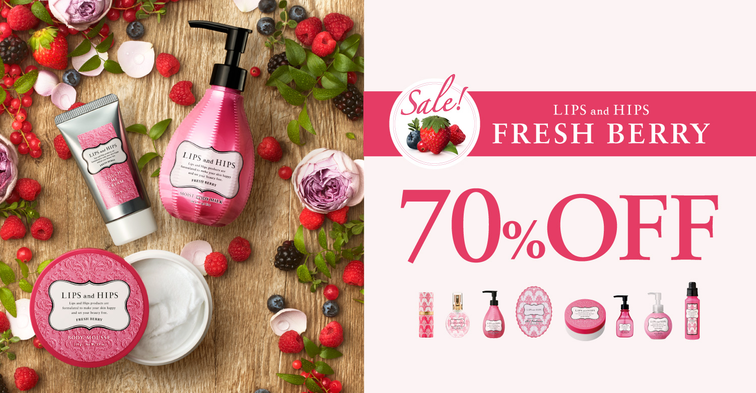 LIPS and HIPSFRESH BERRY 70%OFF